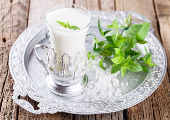 Buttermilk and mint